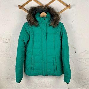 Columbia Emerald Green Puffer Jacket